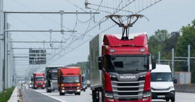 хибридни камиони со пантограф